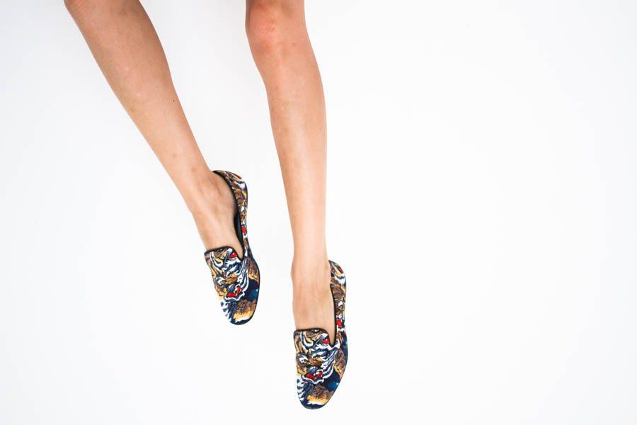 kenzo slippers tiger print silk-1