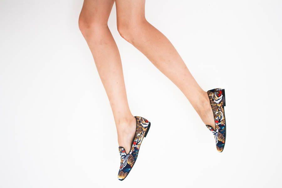 kenzo slippers tiger print silk-3