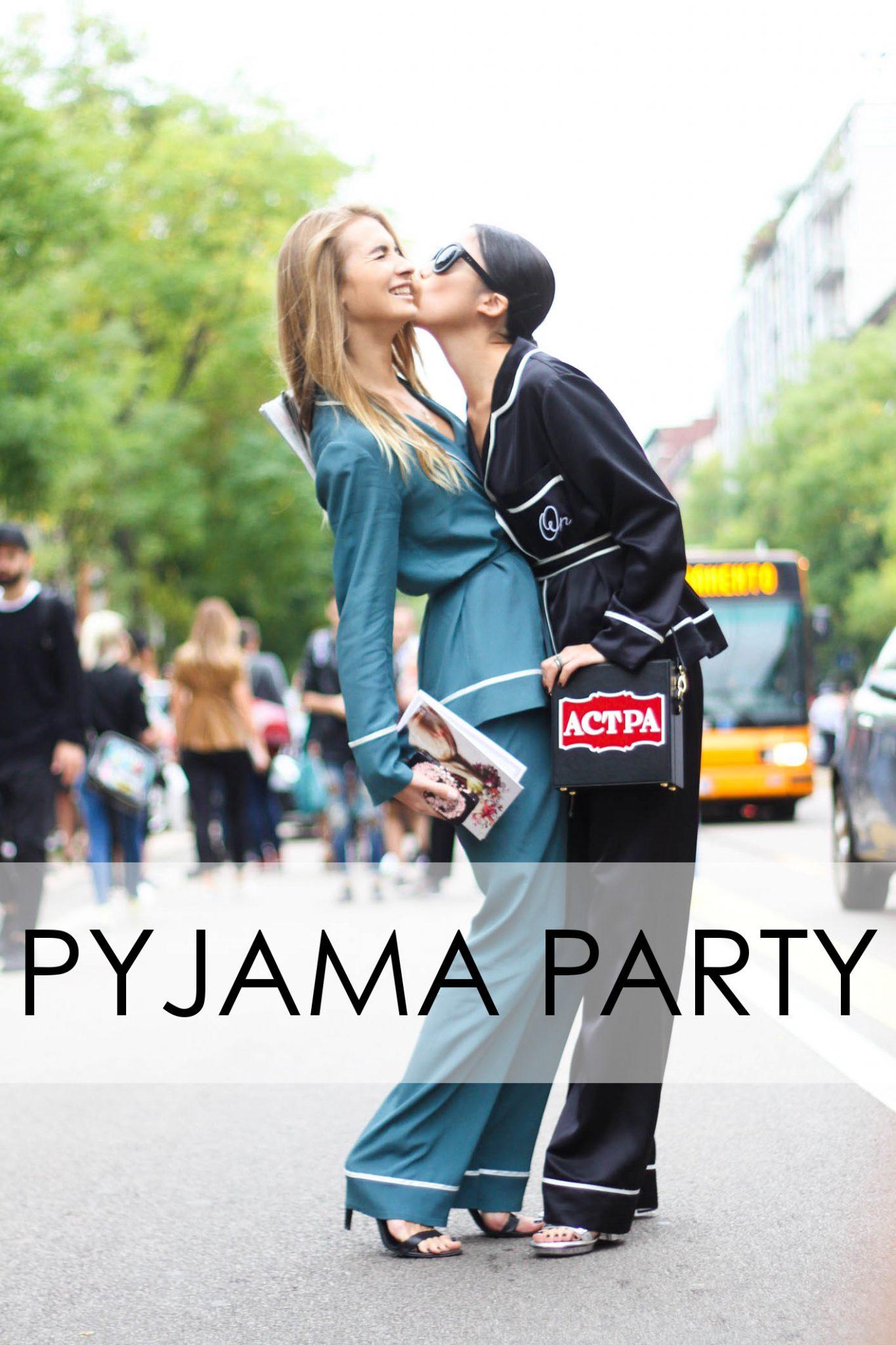 pajama party slide title