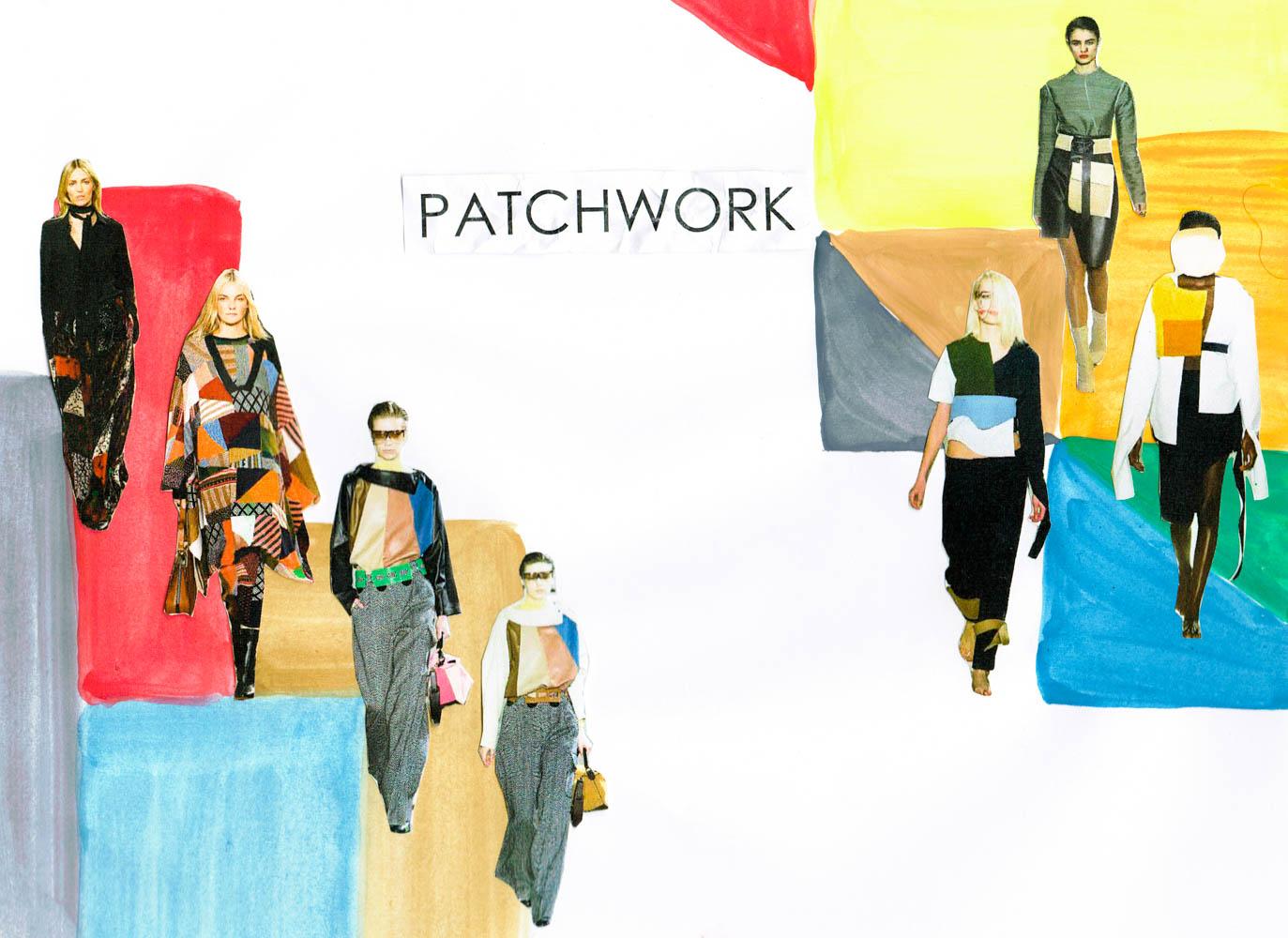 paris fashion week runway tendencies patchwork green suits-1