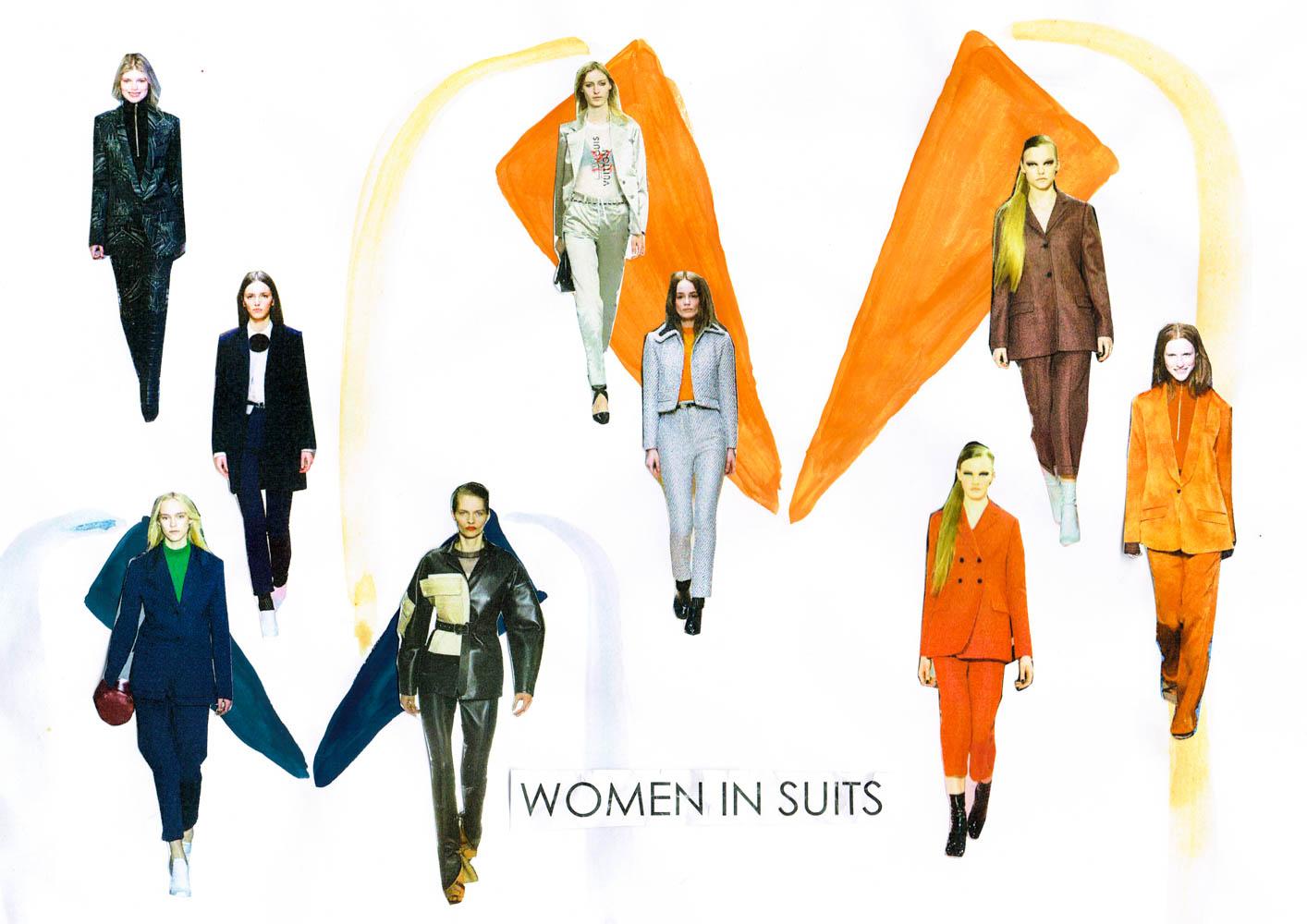 paris fashion week runway tendencies patchwork green suits-2