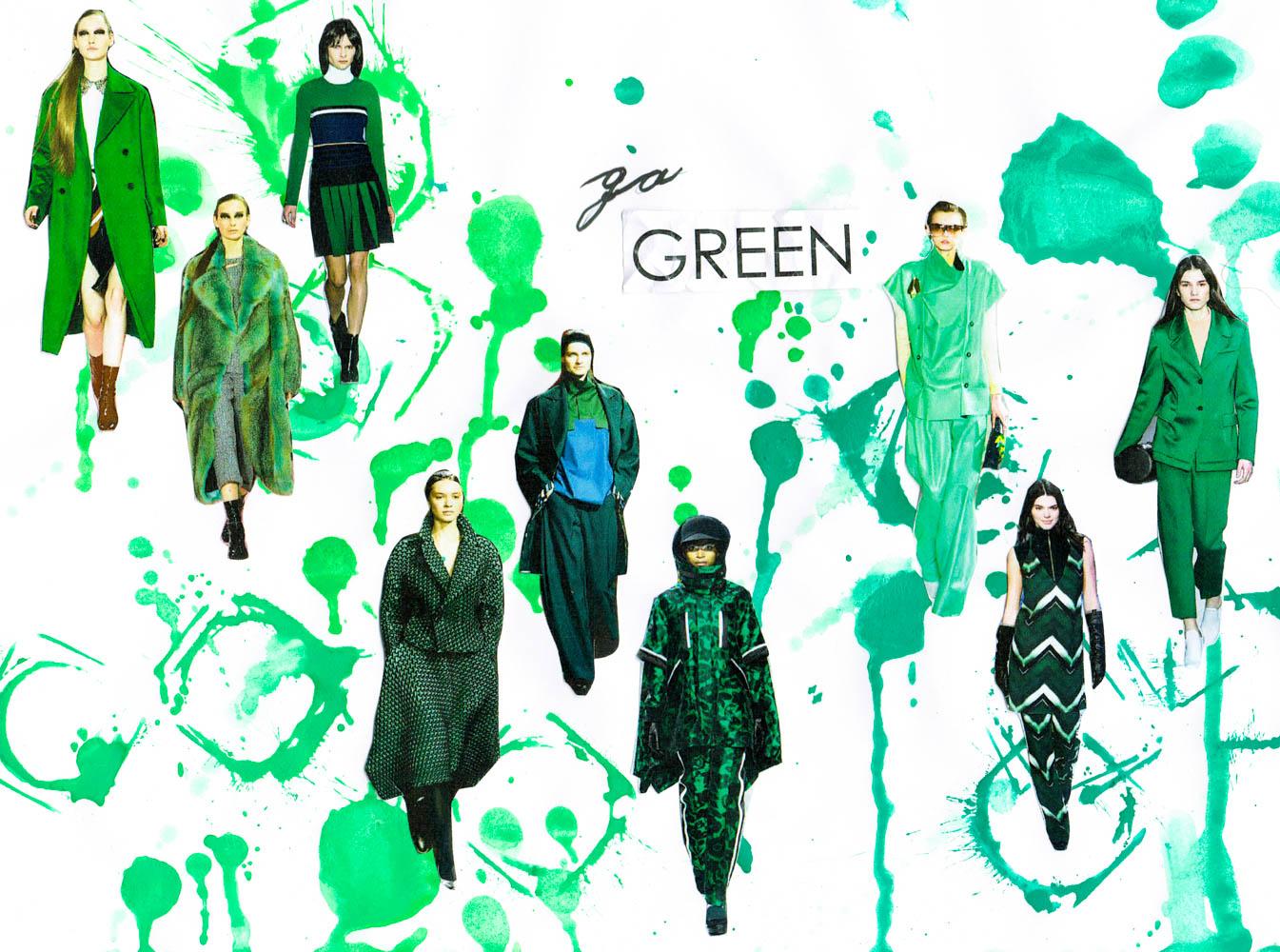 paris fashion week runway tendencies patchwork green suits-3