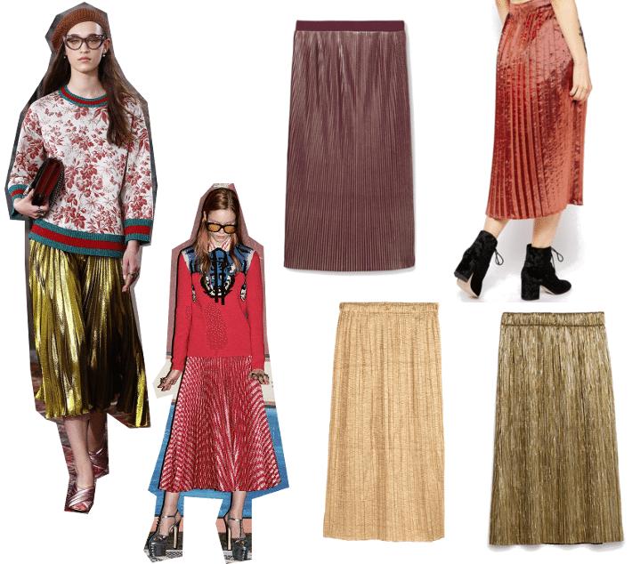 gucci metallic skirts