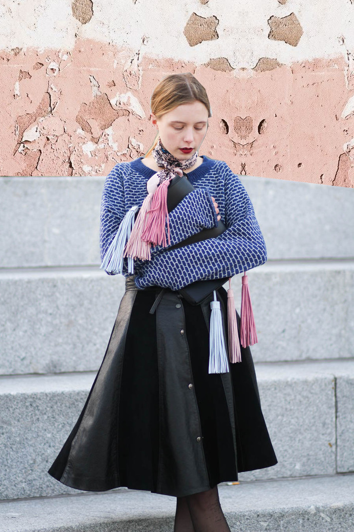 outfit march 16 nemesis babe marie my jensen danish blogger asos bag thrift skirt leather sued-4
