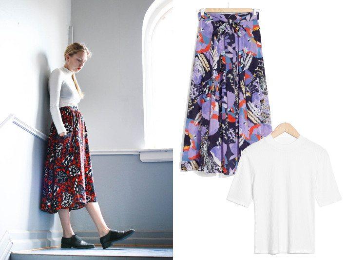 3 ways to wear nemesis babe marie my midi skirts-1print plain