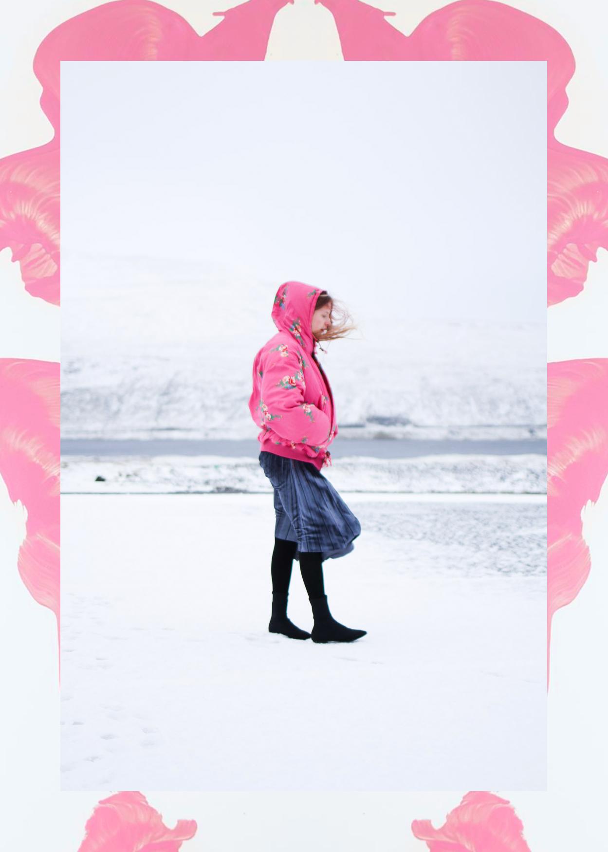 nemesis babe pink vintage puffer jacket